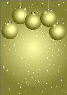 Golden Ornament Christmas Background