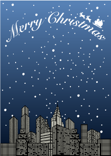 City Christmas Background