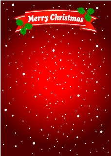 Merry Christmas Ribbon Background