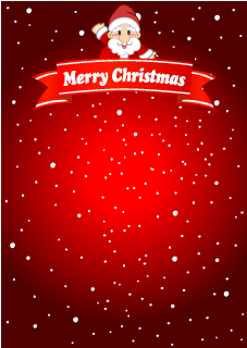 Santa Ribbon Christmas Background
