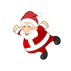 Flying Santa Clipart