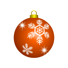 Orange Christmas Ornament