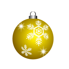 Yellow Christmas Ornament