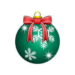 Green Christmas Ornament with Bow