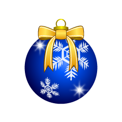 Blue Christmas Ornament with Bow