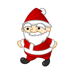 Walking Mini Santa