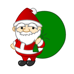 Mini Santa with Gift Bag
