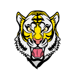 Barking Yellow Tiger Face