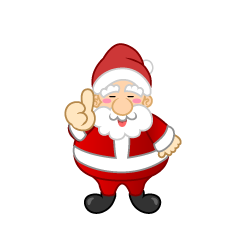 Santa of thumbs up well Clipart