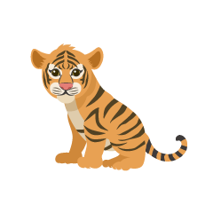 Sitting Child Tiger