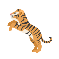 Child Tiger Jumping