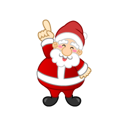 Pointing up Santa Clipart