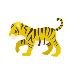 Child Tiger Yellow Silhouette