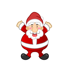 Surprising Santa Clipart