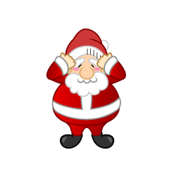 Troubled Santa Clipart