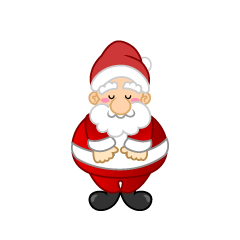 Santa to bow Clipart