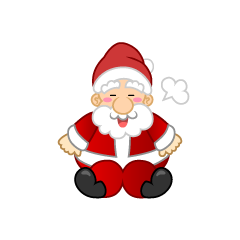 Santa to Take a Break Clipart