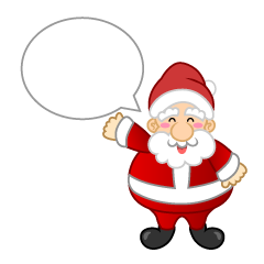 Santa Speaks Clipart