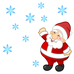 Falling Snow and Santa Clipart