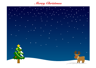Reindeer and Christmas Tree Background