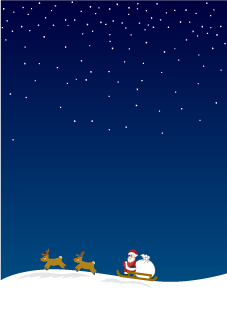 Santa at Snow Night Wallpaper