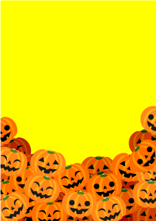 Stacked Pumpkins Background