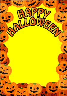 Halloween Pumpkins Frame Background