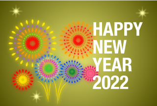 Free Fireworks Happy New Year Greeting Card Image Illustoon