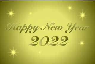 2021 Happy New Year Gold Card