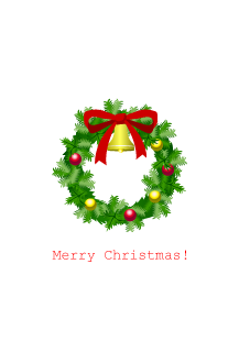 Christmas card of Christmas wreath