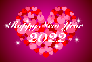 Many Heart Happy New Year Greeting