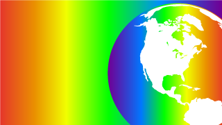 Rainbow color Earth Background