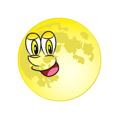 Moon Character Clipart