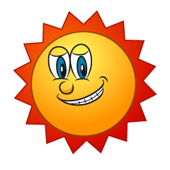 Grinning Sun Character