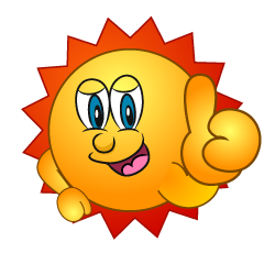 Sun with Thumbs up sign