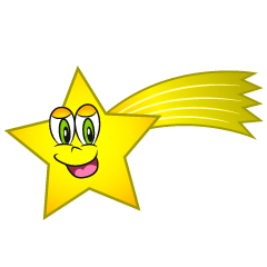 Shooting Star Cartoon Character
