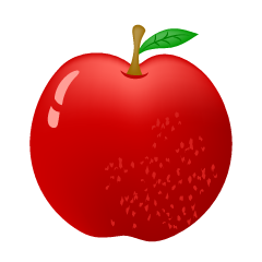 Fresh Red Apple Clipart