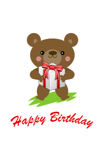 Happy birthday a cute bear gifts