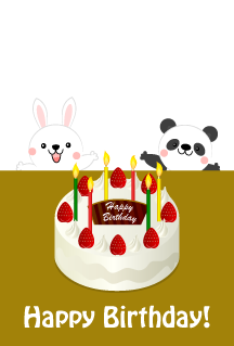 Rabbit and Panda Happy Birthday
