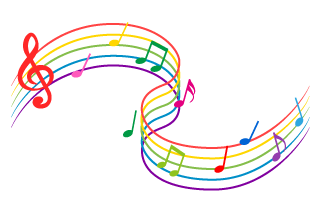 Undulating Colorful Score Notes